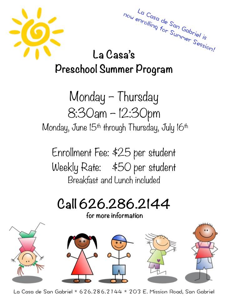 La Casa Preschool Offers a Summer Session!
